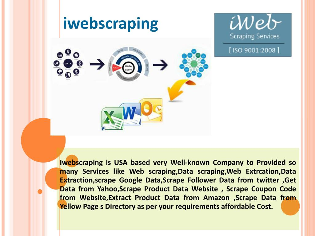 PPT - Web Scraping ,Data Scraping,Web Extraction,Data