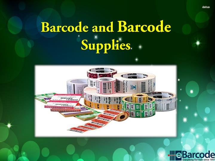 barcode and barcode supplies n.