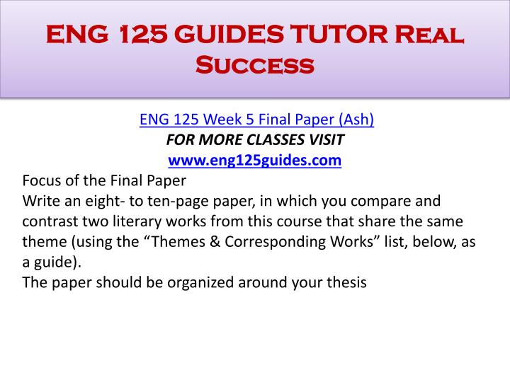 eng 125 final Final paper eng 125 instructor: date: 06-09-13 final paper a short story and poem, no matter how structurally different, are two literary pieces where a rich story is embedded.