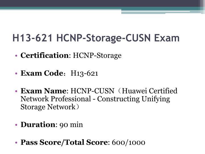 H13 621 hcnp storage cusn exam