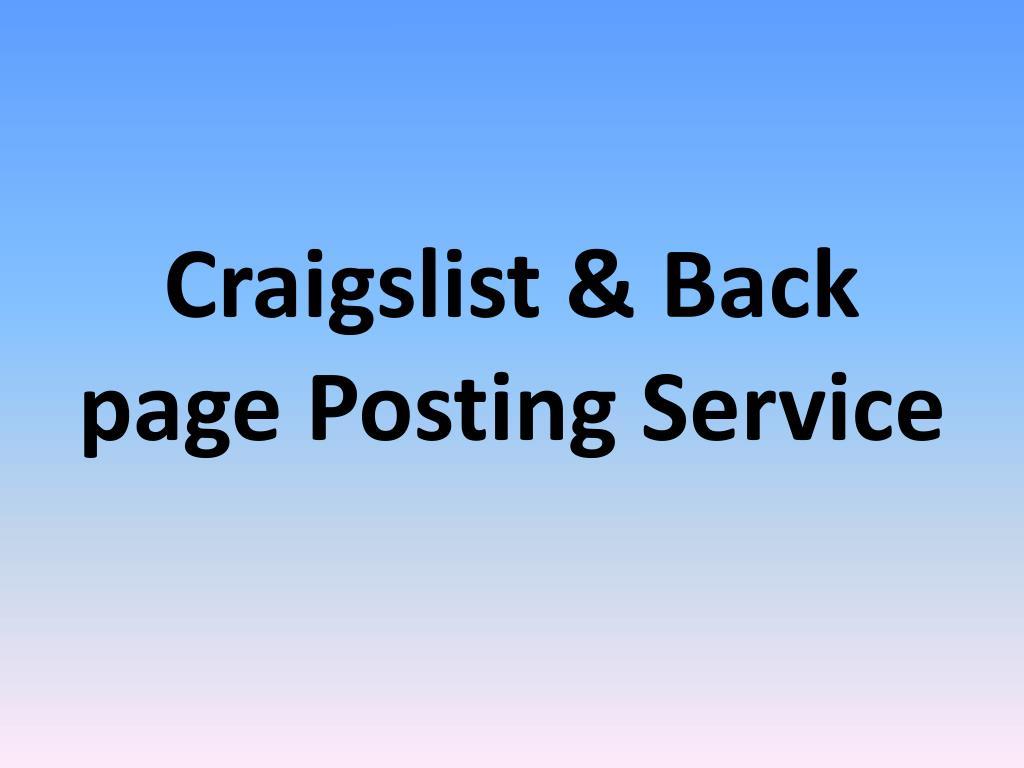 backpage or craigslist