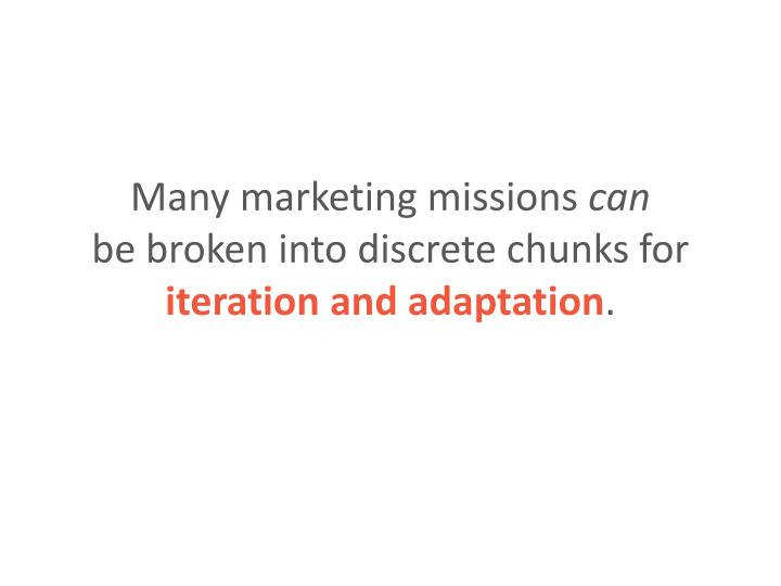 Many marketing missions