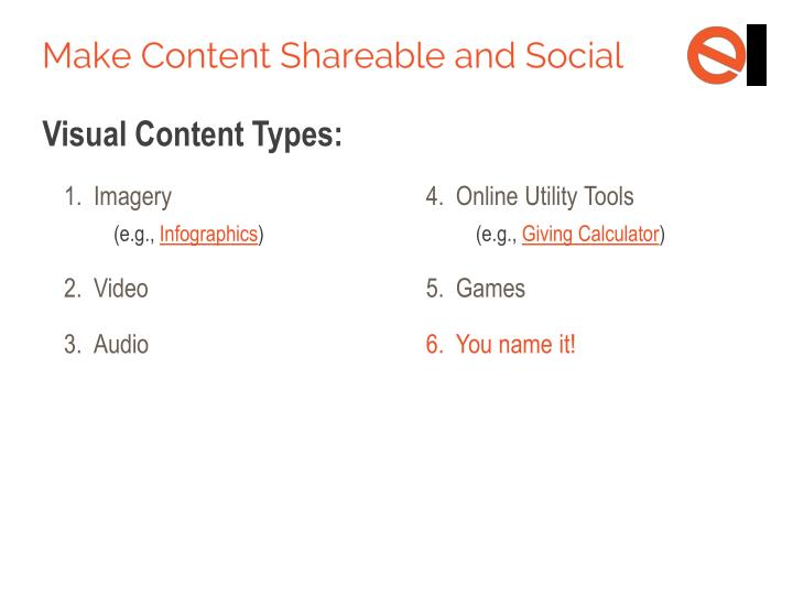 Visual Content Types: