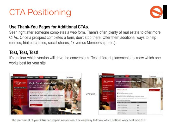 Use Thank-You Pages for Additional CTAs.