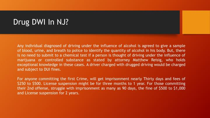 Ppt In New Jersey What Determines A Drug Dwi Powerpoint