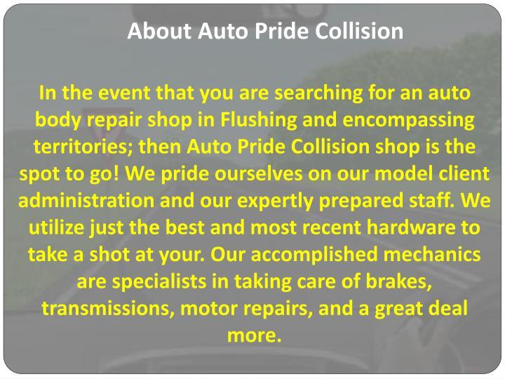 About Auto Pride Collision