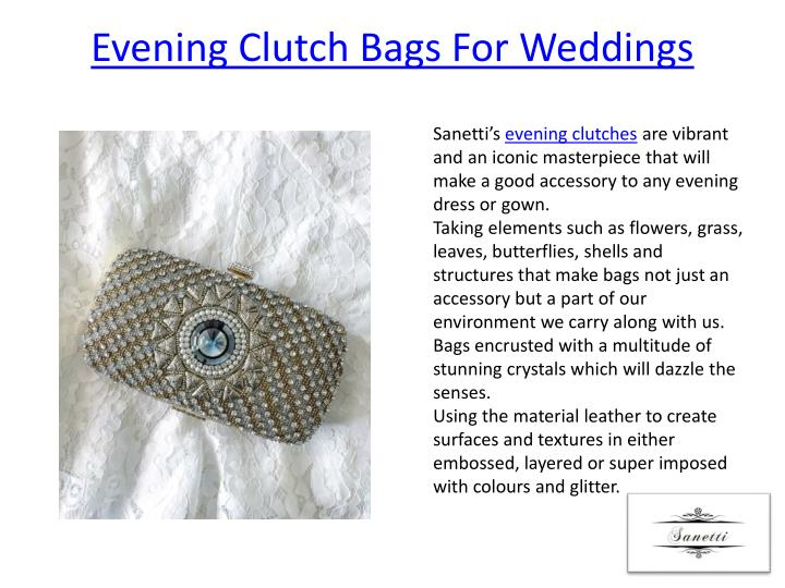 Evening Clutch Bags For Weddings