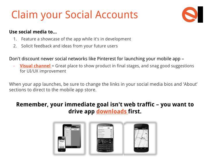 Claim your Social Accounts