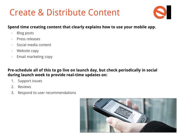 Create & Distribute Content