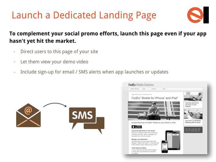 Launch a Dedicated Landing Page