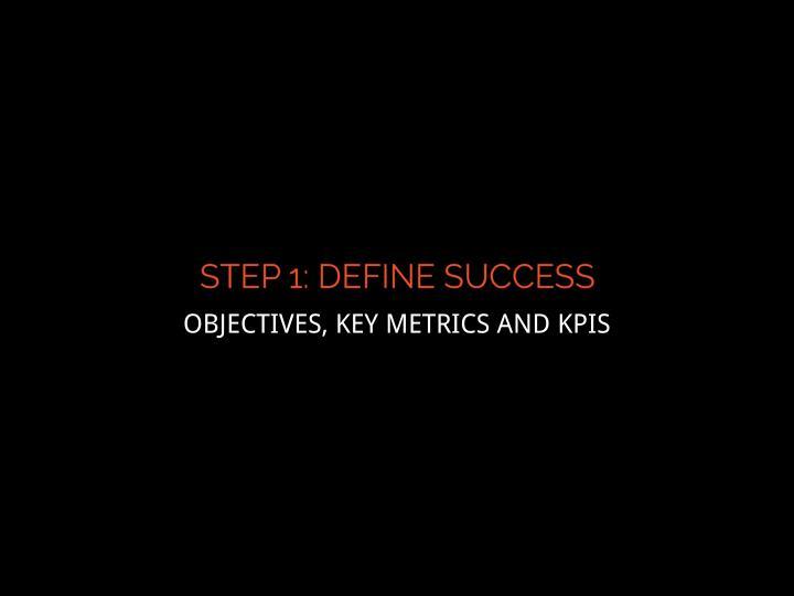 OBJECTIVES, KEY METRICS AND KPIS