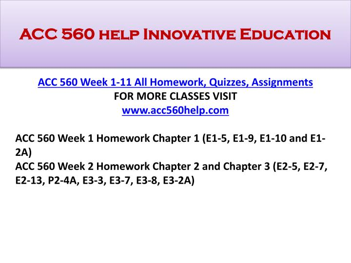 Acc 560 help innovative education1