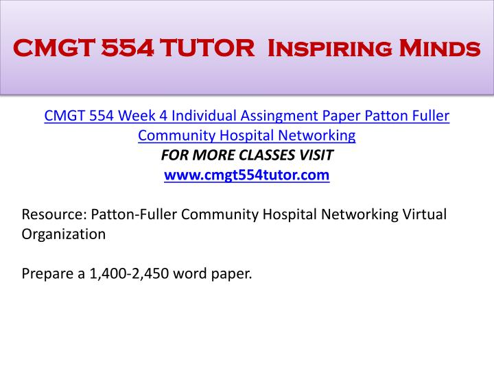 cmgt 554 week 5 Tutorialrank is a online tutorial store we provides cmgt 554 week 5 dq 1 uop course.