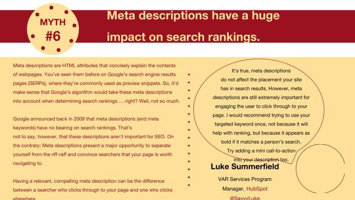 Meta descriptions have a huge