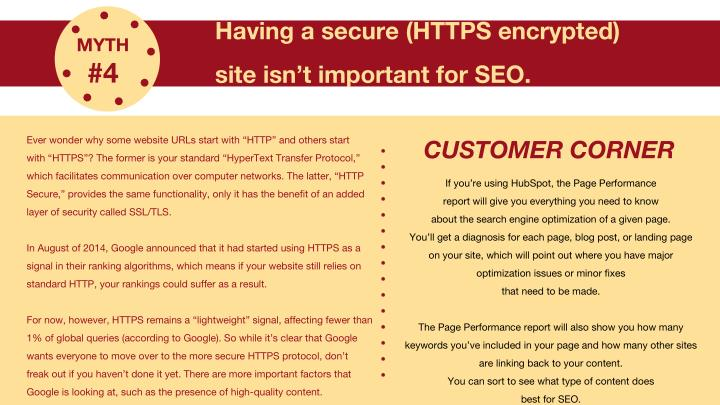 Having a secure (HTTPS encrypted)