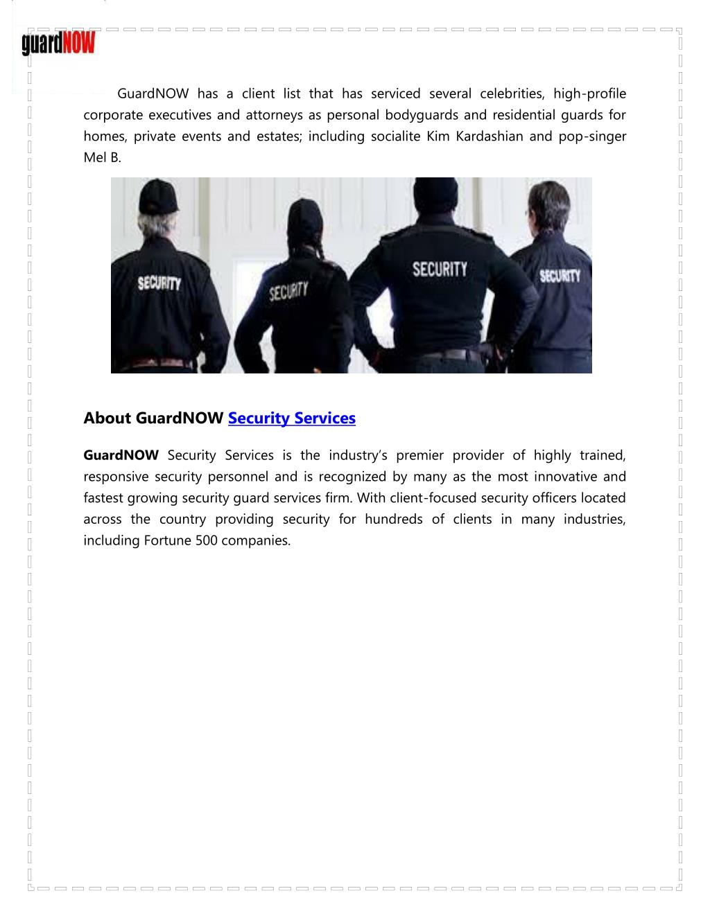 PPT - Security Services | Security Services Company