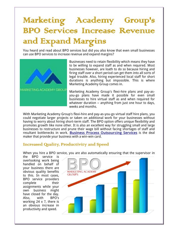 importance in bpo industry The philippines bpo industry has overtaken india as the leading call center country, and due to this, the subsector is projected to continue to maintain the largest contribution to the industry's growth in future years.