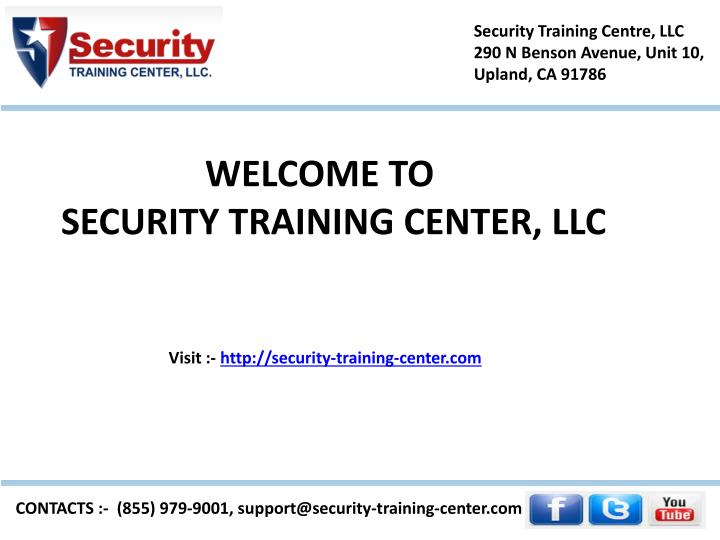 security guard training center