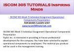 iscom 305 tutorials inspiring minds24