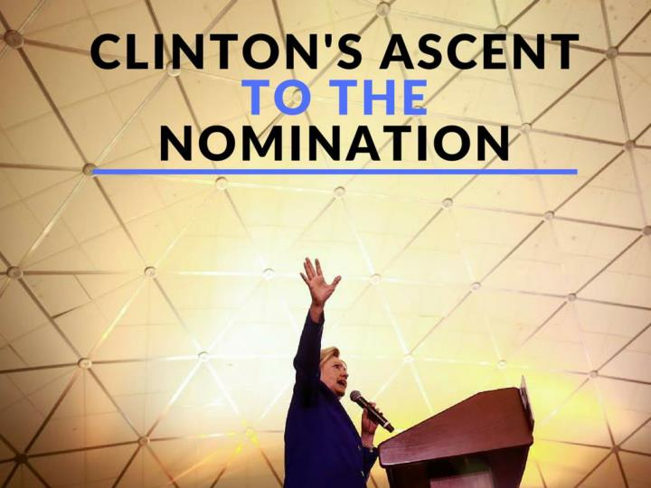 clinton s rising to the nomination n.