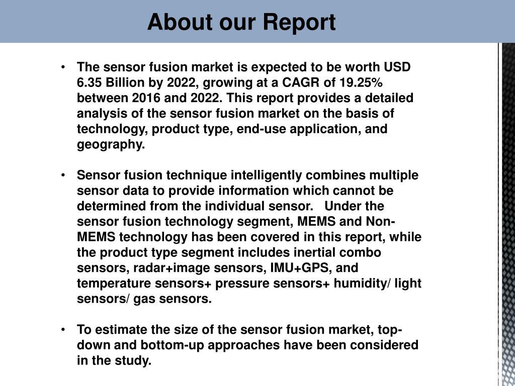 PPT - Sensor Fusion Market worth 6 35 Billion USD by 2022