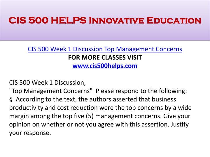 Cis 500 helps innovative education1