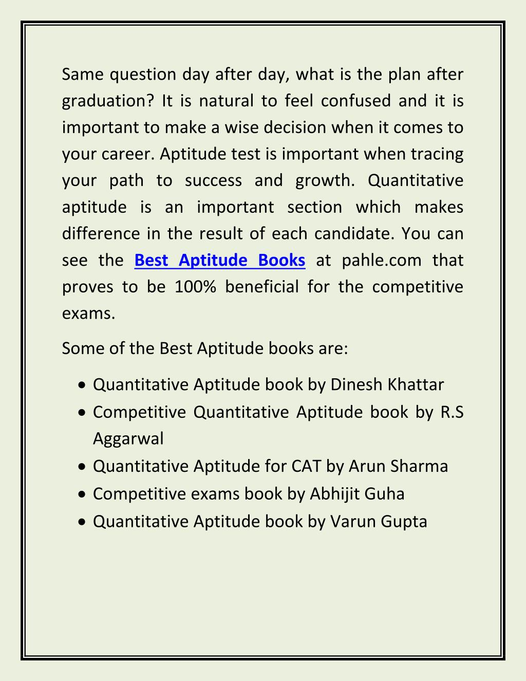 PPT - Delhi University Question Papers and best Aptitude books at