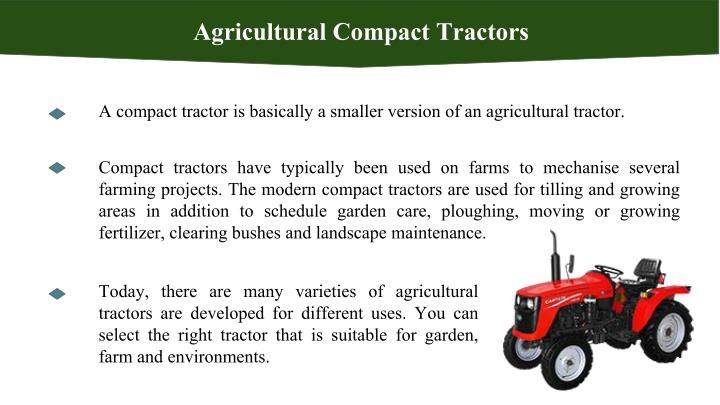 Agricultural Compact Tractors