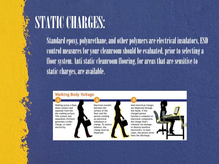 STATIC CHARGES: