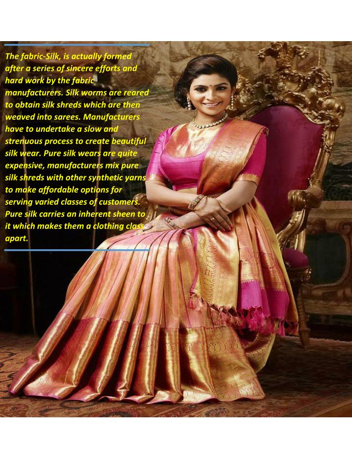 284ac93dd1e04 PPT - Latest Silk Saree Online at Wholesale rate in Surat