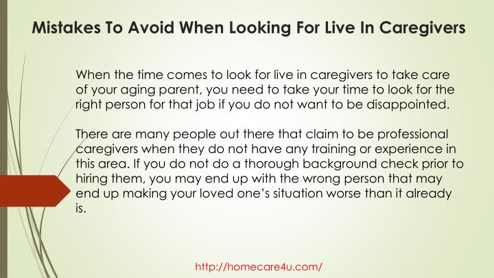 Mistakes to avoid when looking for live in caregivers1