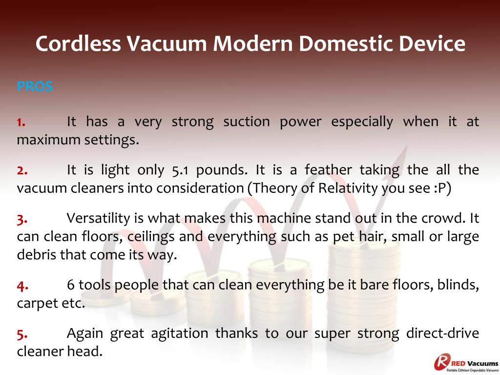 Ppt Cordless Vacuum Modern Domestic Device Powerpoint