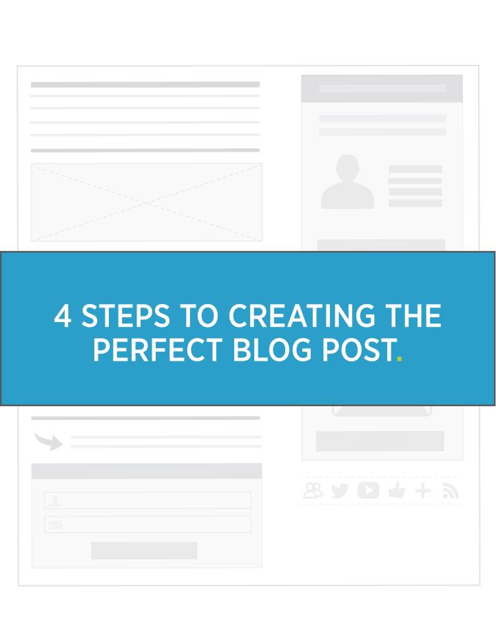 4 STEPS TO CREATING THE