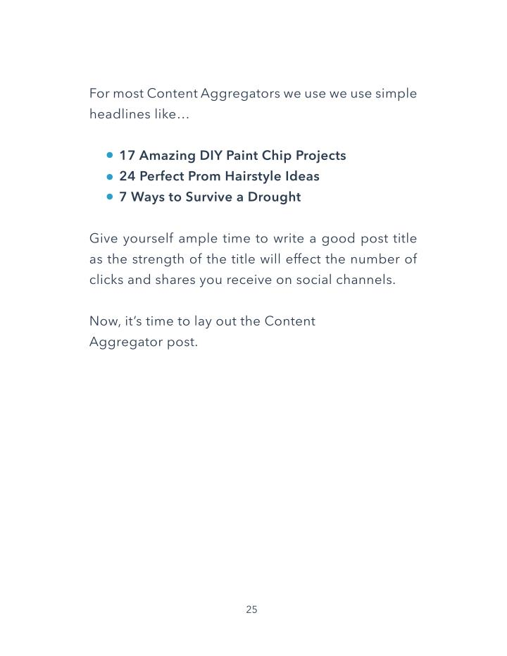 For most Content Aggregators we use we use simple