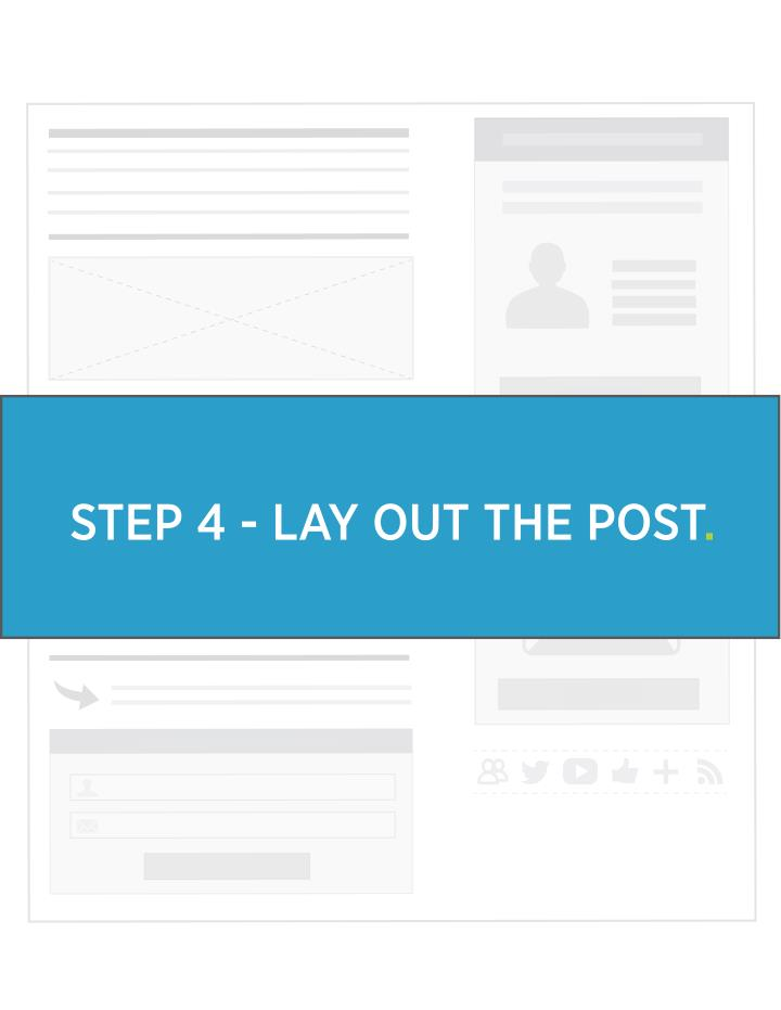 STEP 4 - LAY OUT THE POST.