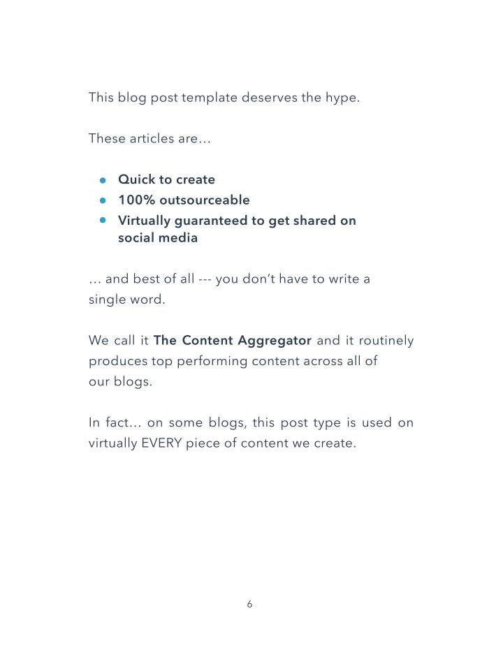 This blog post template deserves the hype.
