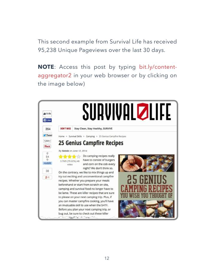 This second example from Survival Life has received