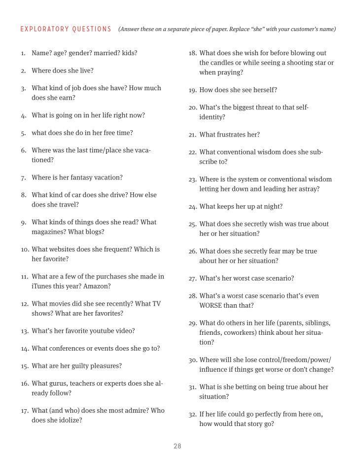 EXPLORATORY QUESTIONS