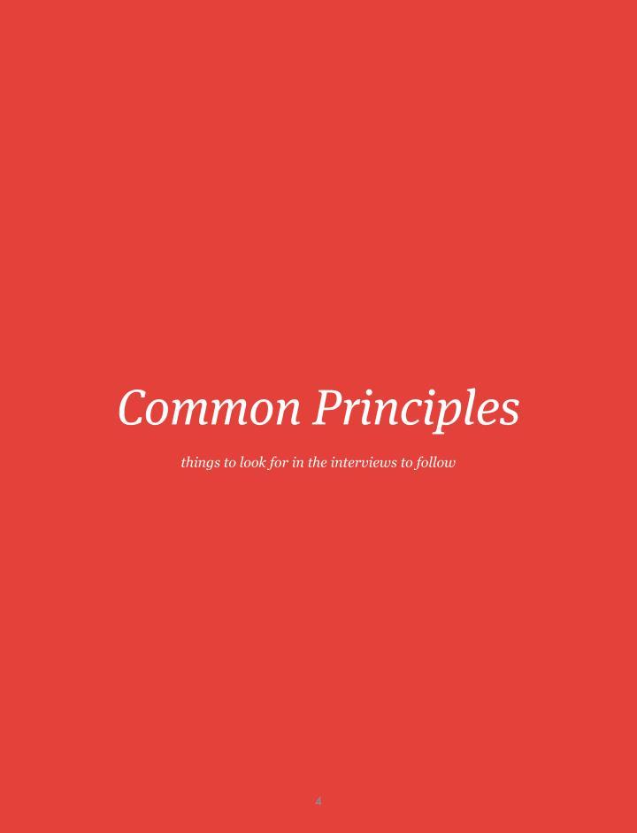 Common Principles