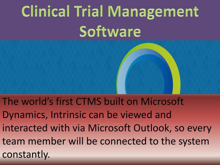 Clinical Trial Management Software