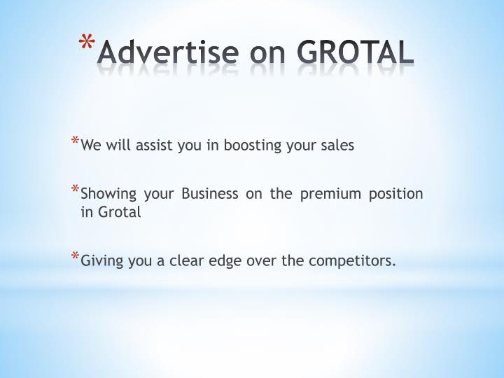 We will assist you in boosting your sales