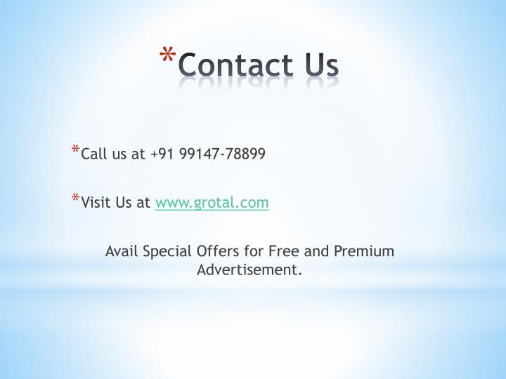 Call us at +91 99147-78899