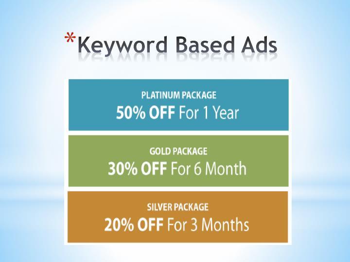 Keyword Based Ads