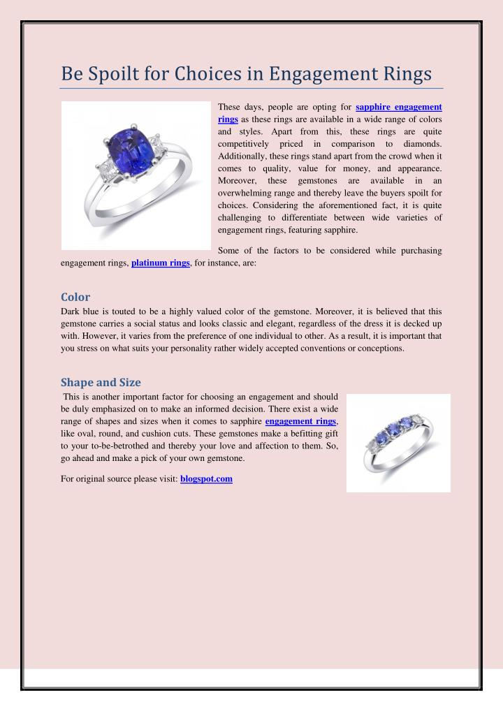 Be Spoilt for Choices in Engagement Rings