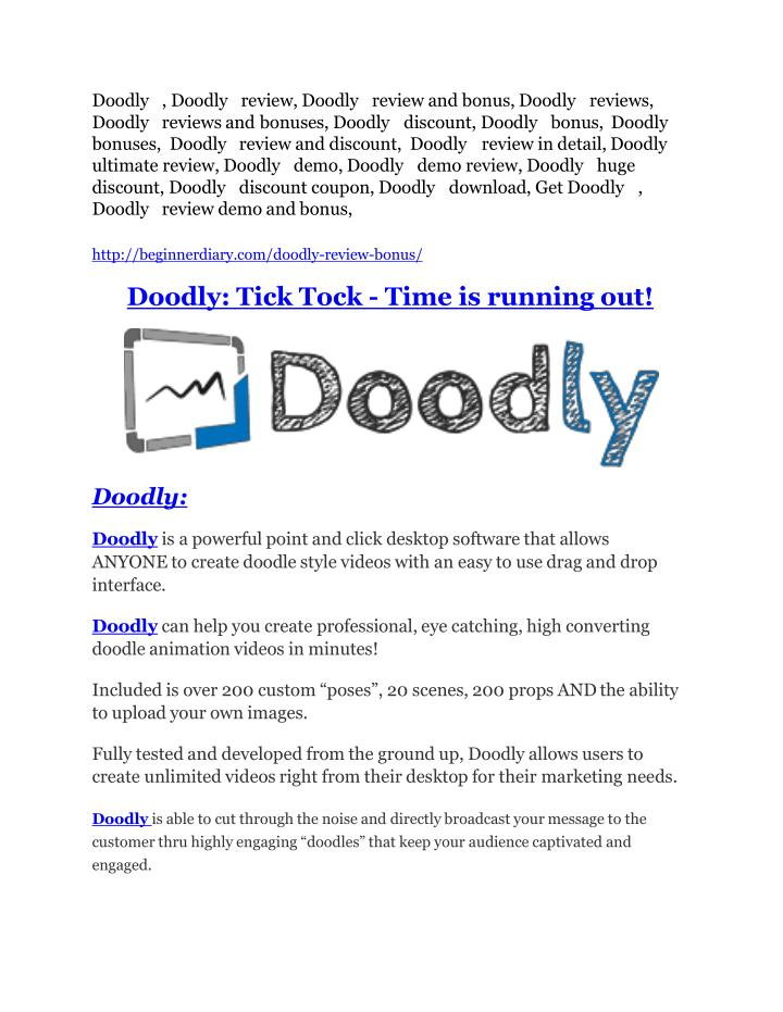 PPT - Doodly review-SECRETS of Doodly and $16800 BONUS