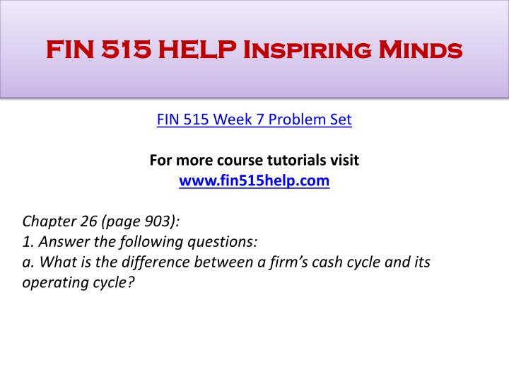 fin515 w6 problem set