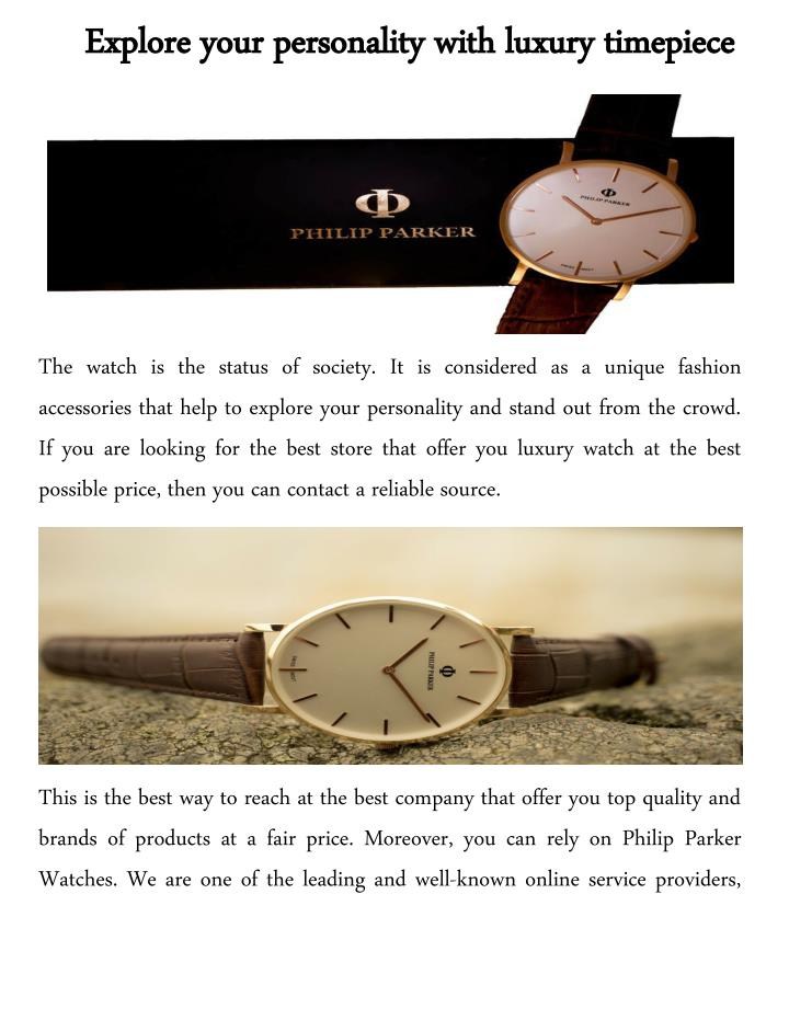 Explore your personality with luxury timepiece