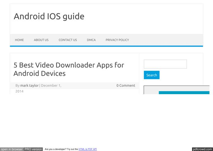 PPT - Best video downloader app for android PowerPoint Presentation