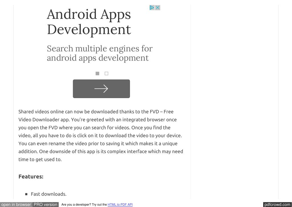 PPT - Best video downloader app for android PowerPoint