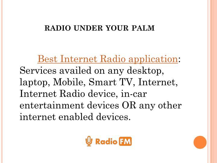 radio under your palm